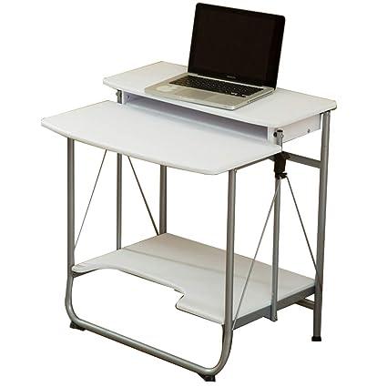 Escritorios HAIZHEN Ordenador portátil 2 Nivel Computadora Oficina en el hogar Sala de Estudio Apartamento Estación