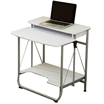 Table Mesa FEI Escritorio para Ordenador portátil de 2 Niveles Escritorio de Ordenador hogar Oficina Sala de Estudio apartamento estación de Trabajo ...