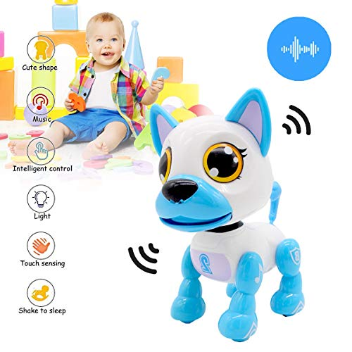 Yehtta Toys for 3-8 Year Old Boys Robot Dog Toddler Interactive Toy Pet Autism Toys Electronic Toy Puppy Kids Gifts Blue