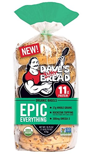 Dave's Killer Bread Epic Everything Organic Bagels, 16.75 oz