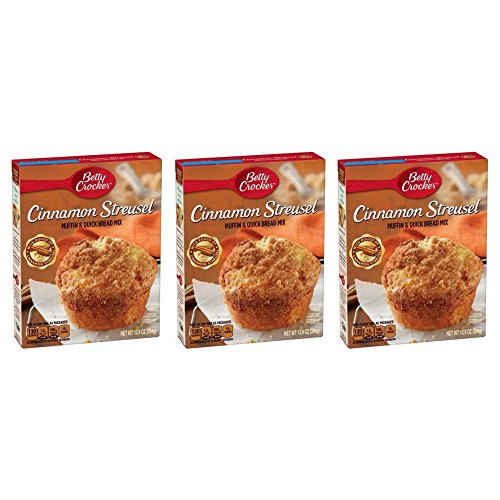 Streusel Muffin - Betty Crocker Cinnamon Streusel Muffin & Quick Bread Mix, 13.9 OZ (pack of 3)