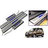 Car Door Led Sill Scuff Plate Foot Steps For - Wagon R (Set Of 4 Pc) (By Lowrence)
