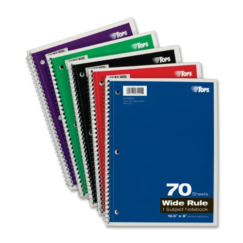 70 Sheet Spiral Notebook - 3