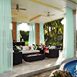 cololeaf Indoor Outdoor Sheer Curtain Patio| Porch| Gazebo| Pergola | Cabana | Dock| Beach Home| Backyard| Country| Garden| Wedding - Rod Pocket - Mint 52'' W x 84'' L (1 Panel)