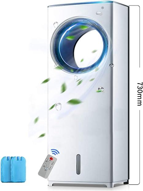 IMUGTT Silencioso Enfriador De Aire Suelo Aire Acondicionado con Control Remoto, Ventilador Sin Aspas Climatizador Portátil, 3-Velocidad para El Hogar Dormitorio-Blanco 73x26cm(29x10): Amazon.es: Hogar