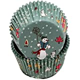 Chef Craft 50 Count Cupcake Liners, Snowmen