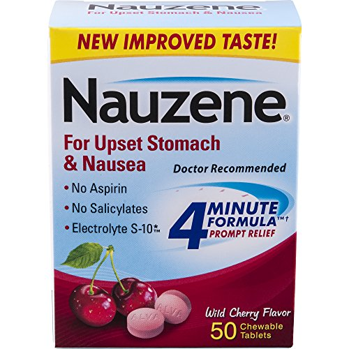 Nauzene For Nausea Chewable Tablets, Wild Cherry, 50 Count by Nauzene