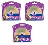 Verbatim 16x DVD+R LightScribe Blank Media, 4.7GB/120min - 30 Pack (3 x 10 Packs)