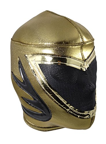 TINIEBLAS Adult Lucha Libre Wrestling Mask (pro-fit) Costume Wear - Gold by Mask Maniac