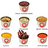 Selection of 7 Indian Spices - Great with Indian-Tiffin Masala Dabba
