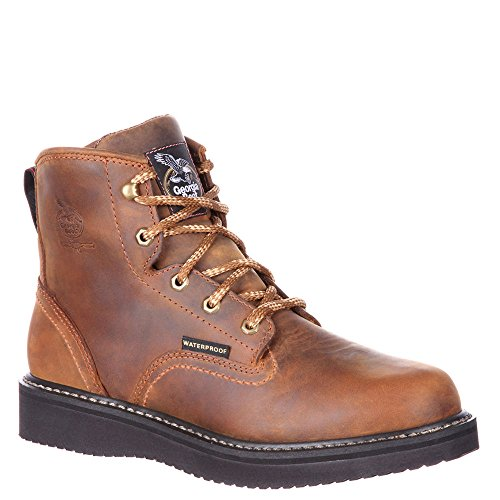Georgia GB00124 Mid Calf Boot, Distressed Brown, 10.5 M US