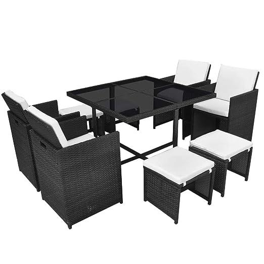 Xinglieu Juego de Mesa y sillas para Exteriores de 21 Piezas en ...