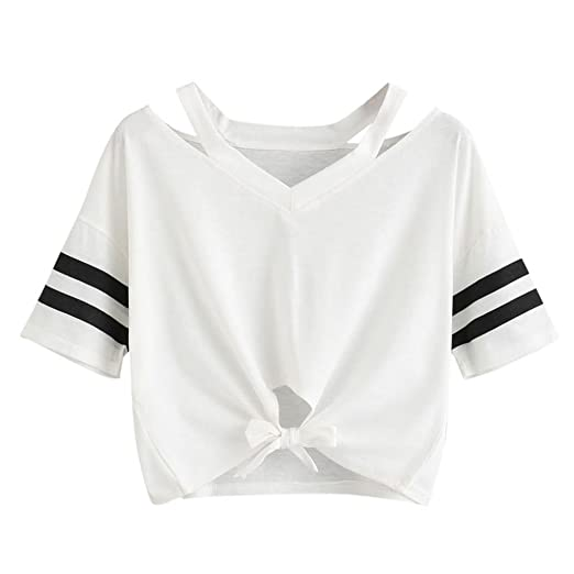 8d7b50c3158 Image Unavailable. Image not available for. Color  Wintialy Women Ladies  Short T-Shirt Short Sleeve Round Neck Casual Tops Blouse