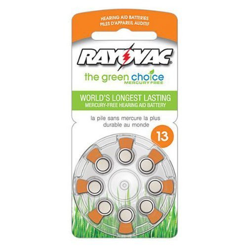 rayovac-l13za-8zm-zinc-air-battery-14-volt-for-hearing-aids-13-size-8-pack-by-rayovac