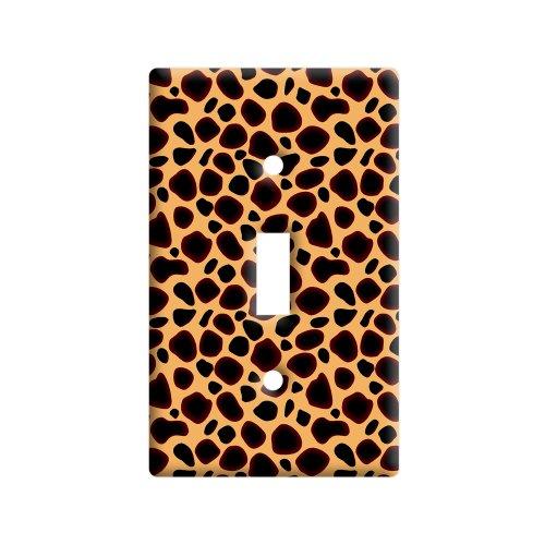 Cheetah Print - Plastic Wall Decor Toggle Light Switch Plate Cover (Cheetah Print Light Switch Cover)