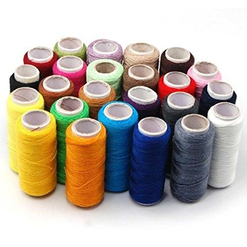 24 Colors Spools Home Sewing Craft All Purpose High Quality Kit Cotton Thread Reel