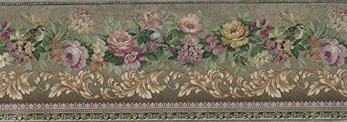 golden-floral-roses-wallpaper-border