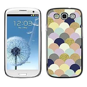 FECELL CITY // Duro Aluminio Pegatina PC Caso decorativo Funda Carcasa de Protección para Samsung Galaxy S3 I9300 // Art Clouds Bubbles Colorful Golden