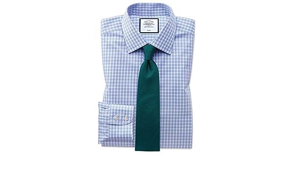 Charles Tyrwhitt Camisa Azul Celeste de Sarga y Corte clásico a ...