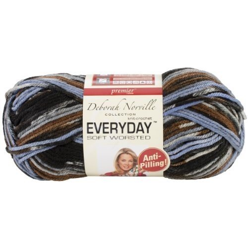 Premier Yarns Deborah Norville Collection Everyday Soft Worsted Prints Yarn: Winding River