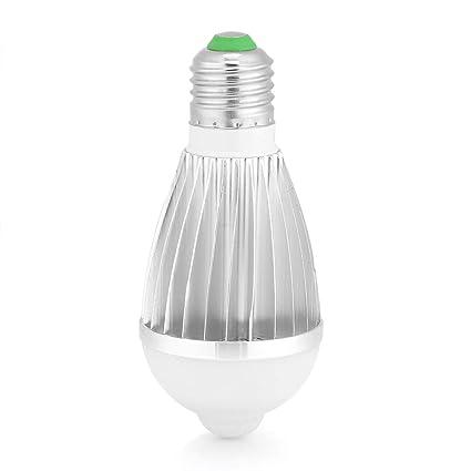 Fdit E27 Automático Sensor de Movimiento por Infrarrojo LED Lámpara de Luz Nocturna 7W Luces Inalámbricas