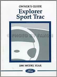 ford explorer sport trac owners manual original