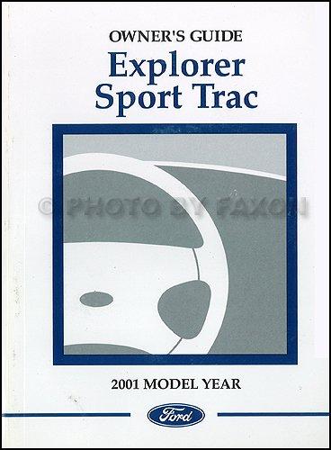 2001 Ford Explorer Sport Trac Owner's Manual Original