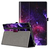 VORI Case for All-New Amazon Fire HD 10 Tablet (9th/7th/5th Generation,2019/2017/2015 Release), Folio Folding Smart Stand Cover with Hand Strap and Auto Wake/Sleep for Fire HD 10.1'', Nebula