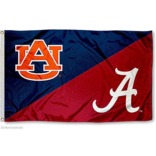 College Flags and Banners Co. Alabama vs. Auburn House Divided 3x5 Flag