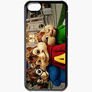 Personalized iPhone 5C Cell phone Case/Cover Skin Alvin movies Black