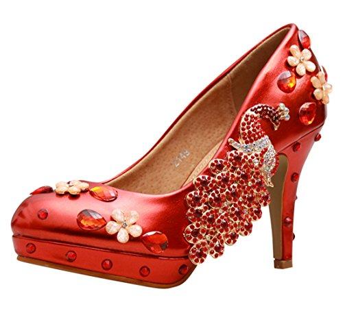 Hääjuhlissa Pumput Kävelyttää puna Käsintehty Stiletto 10cm Korkokenkiä Nahka Minitoo Naisten Ilta Kengät Mzll023 Nahka xT8qZzY
