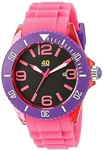 40Nine Unisex 40NINE02/PINK Large 45mm Analog Display Japanese Quartz Pink Watch