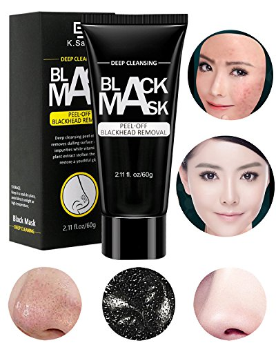 Face Nose Blackhead Remover Mask,Black Mask,Purifying Peel Off,Organic Activated Charcoal Deep Cleansing Facial Mask,Facial Acne Scars Pore Cleaner,Blemishes,Anti-Aging,Wrinkles