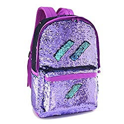 Purple Reveriable Sequence Back Pack