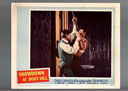 MOVIE POSTER: SHOWDOWN AT BOOT HILL-CHARLES BRONSON-1958-WESTERN-11