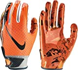 NIKE Youth Vapor Jet 5.0 Receiver Gloves 2018 (Chrome/Orange, Large)