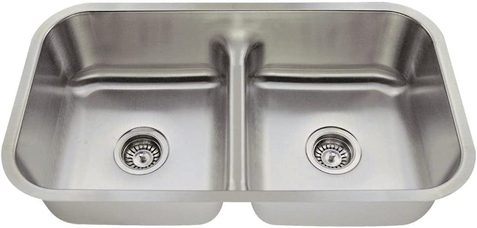 512 18-Gauge Undermount Low-Divide Stainless Steel Kitchen Sink