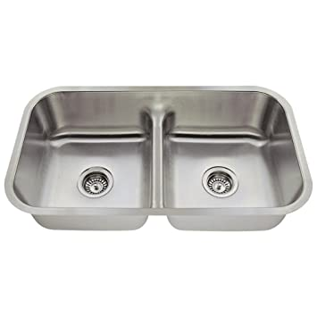 512 16 gauge undermount low divide stainless steel kitchen sink 512 16 gauge undermount low divide stainless steel kitchen sink      rh   amazon com