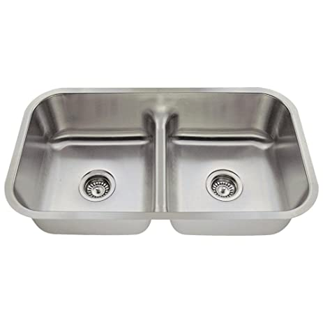 512 16-Gauge Undermount Low-Divide Stainless Steel Kitchen Sink