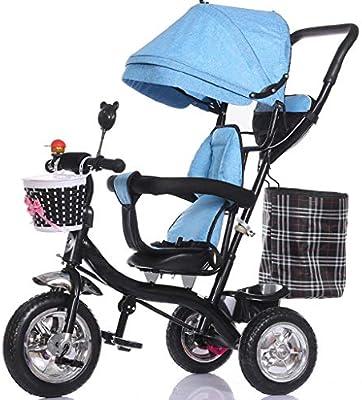 Carro de bebé Plegable Niños Triciclo Reclinado Bebé Bicicleta ...
