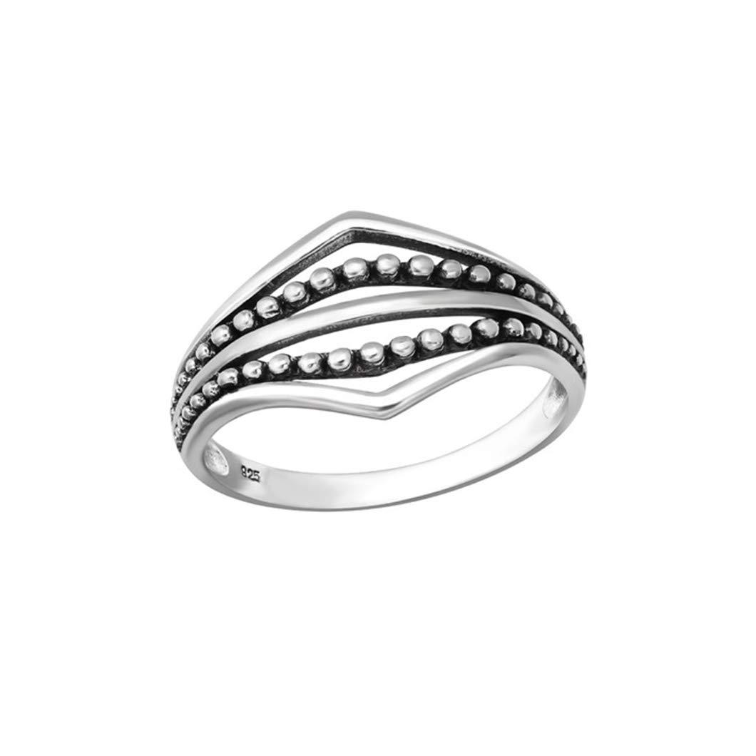 Polished Nickel Free Liara Oxidized Plain Rings 925 Sterling Silver