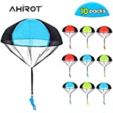 AHIROT Parachute Toys 10pcs Tangle Free Throwing Parachute Figures Skydive Parachutes Man Hand Throw Soldier Toss It Up and Watching Landing Outdoor Flying Toys for Kids Gifts