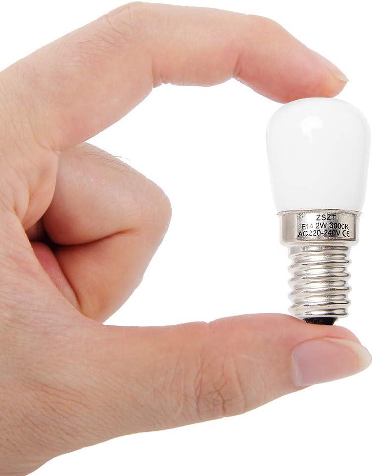 Bombillas de frigorífico E14 LED 2W ZSZT equivalente de bulbo del halógeno 15W, Blanco Cálido 3000K bombilla maquina de coser, 2 unidades: Amazon.es: Grandes electrodomésticos