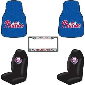 Auto Accessories Interior Combo Kit Gift Set 5pc Philadelphia Phillies Automotive