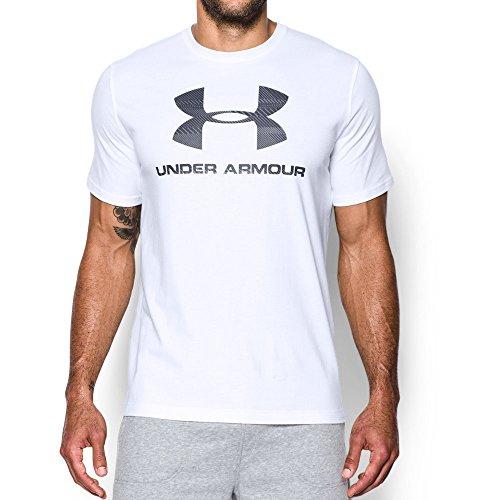 Under Armour Men's Sportstyle Logo T-Shirt, White/Black, Medium
