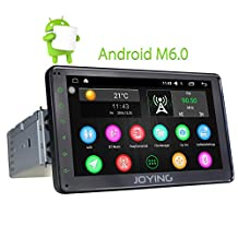 JOYING 7 inch Aftermarket Single Din Car Deck Android 6.0 Intel Quad Core Multipoint Capacitive Touch Screen Head Unit Car Stereo GPS Navigation