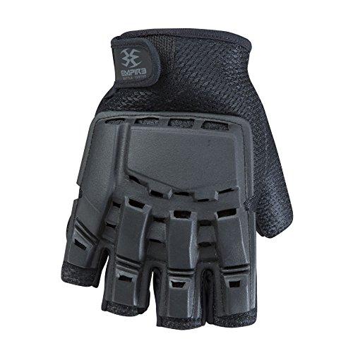 Empire BT THT Hard Back Fingerless Gloves - Black - Small / Medium by Empire BT by Empire BT