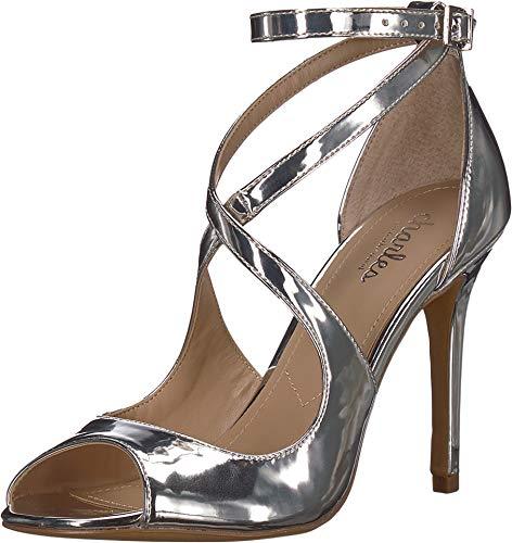 CHARLES BY CHARLES DAVID Women's Rylan Heeled Sandal Silver 8 M US
