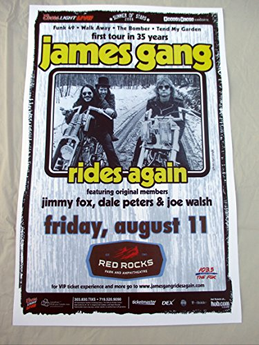 Rock Concert Poster (2006 James Gang & Joe Walsh Red Rocks Concert Poster)