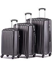 02663d83f6c Expandable Luggage Sets Spinner Lightweight Luggage with TSA lock HardShell  Suitcase Set 3pcs 20inch Carry On